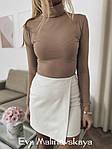 Женская юбка, плотный замш на дайвинге, р-р 42; 44; 46 (молочный), фото 2