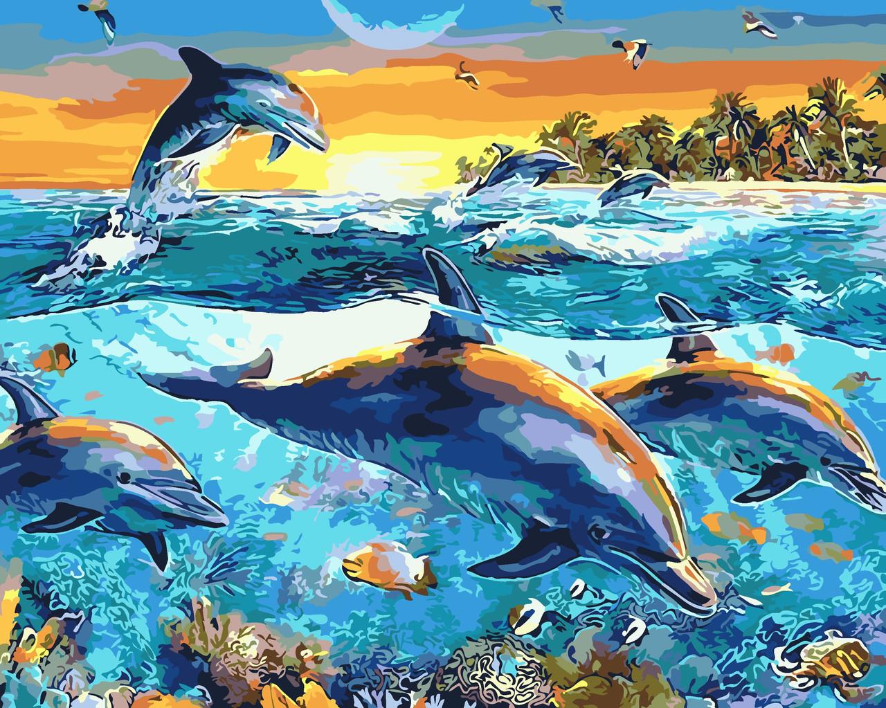 Художественный творческий набор, картина по номерам Подводные глубины, 50x40 см, «Art Story» (AS0077)