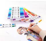 Акварельні маркер пензлика 100 кольорів для малювання FineLiner / Brush Markers Pens, Кисть лайнер для акварелі, фото 4