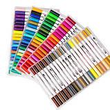 Набор двусторонних маркеров для рисования FineLiner / Brush Markers Pens 100 цветов, фото 7