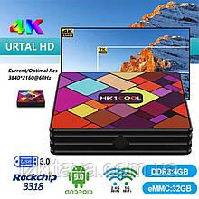 Смарт приставка TV Box HK1 Cool 4/32 Гб Android 9.0 Smart TV + 3 месяца Sweet TV