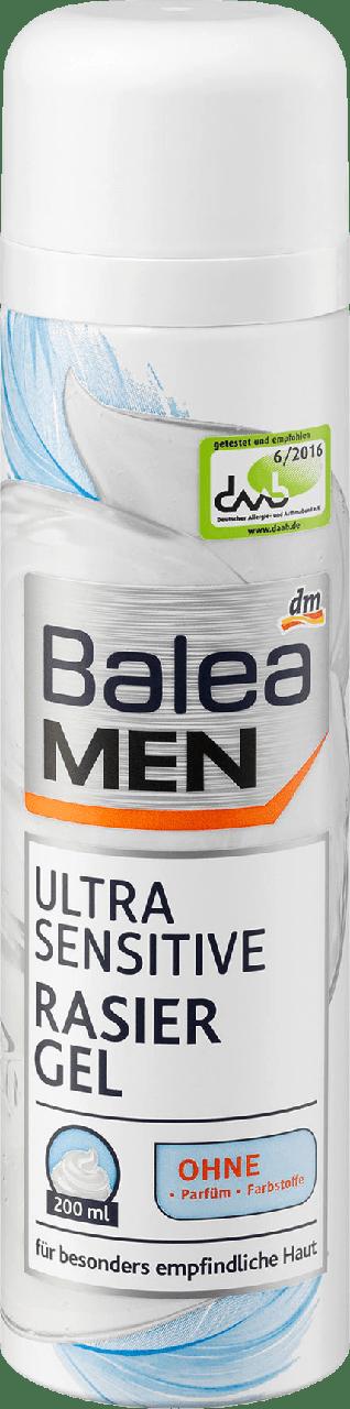 Гель для бритья Balea Men Ultra Sensitive, 200 ml.