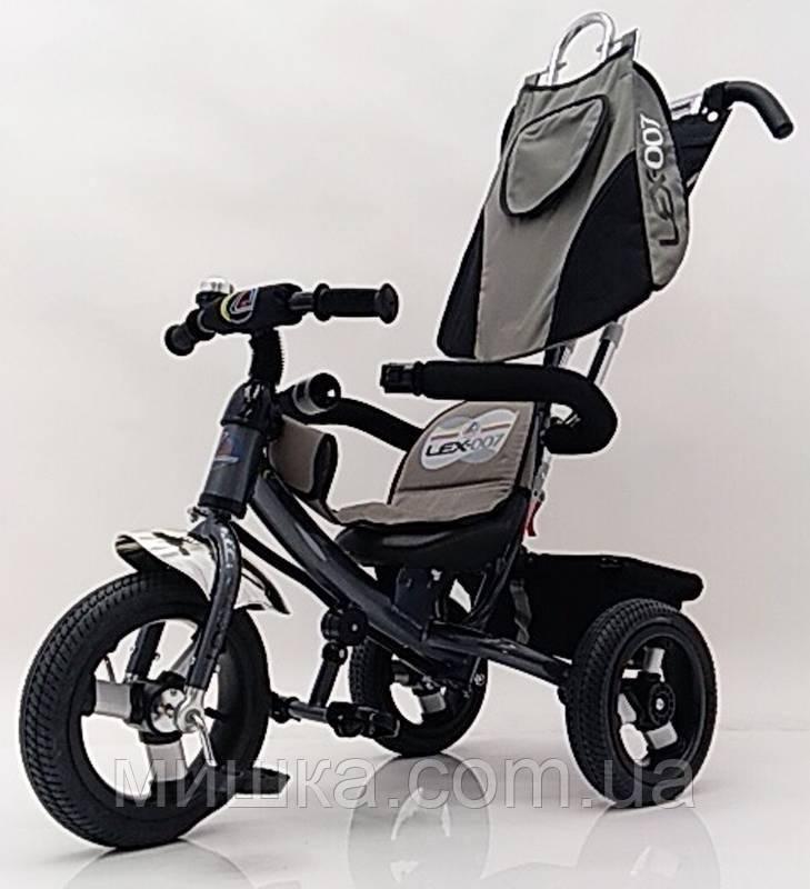 Sigma Lex-007 велосипед детский трехколесный (12/10 AIR wheels) Grey