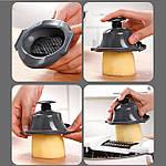 Многофункциональная овощерезка слайсер Adna Slicer резка для овощей и фруктов кухонный комбайн, фото 5