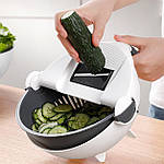 Многофункциональная овощерезка слайсер Adna Slicer резка для овощей и фруктов кухонный комбайн, фото 8