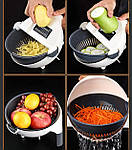 Многофункциональная овощерезка слайсер Adna Slicer резка для овощей и фруктов кухонный комбайн, фото 9