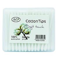 Ватні палички в упаковці 100 штук, MF Cotton Tips
