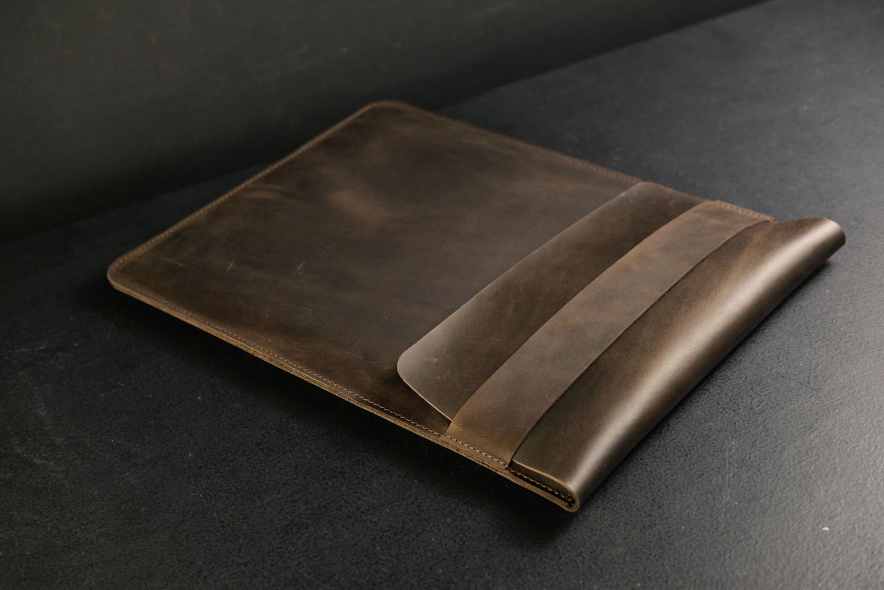 Чехол для MacBook,модель №25, Винтажная кожа, цвет Шоколад