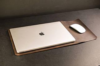 Чехол для MacBook,модель №25, Винтажная кожа, цвет Шоколад, фото 3