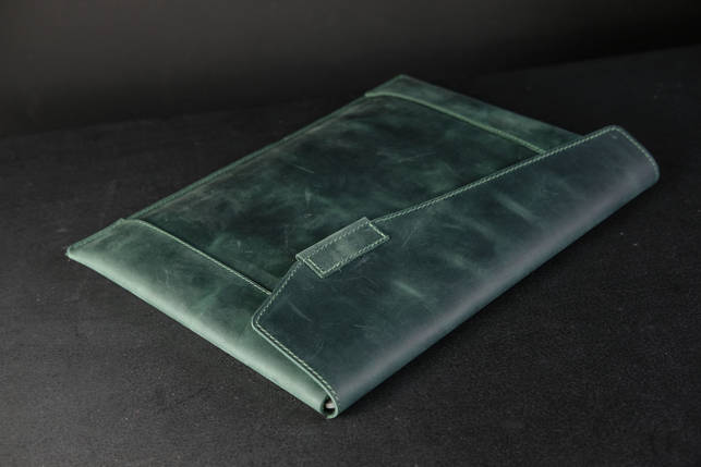 Чохол для MacBook Дизайн №20 Вінтажна шкіра, колір Зелений, фото 2