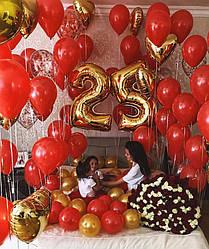 Комната гелиевых шаров для любимой