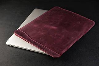 Чехол для MacBook Винтажная кожа, цвет Бордо, фото 3
