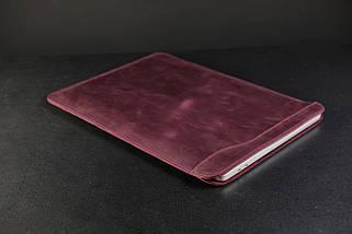 Чохол для MacBook Вінтажна шкіра, колір Бордо, фото 2