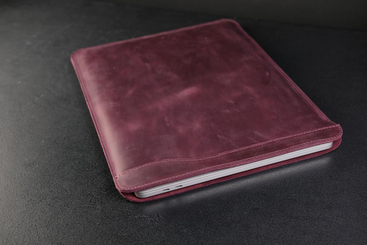 Чохол для MacBook Вінтажна шкіра, колір Бордо