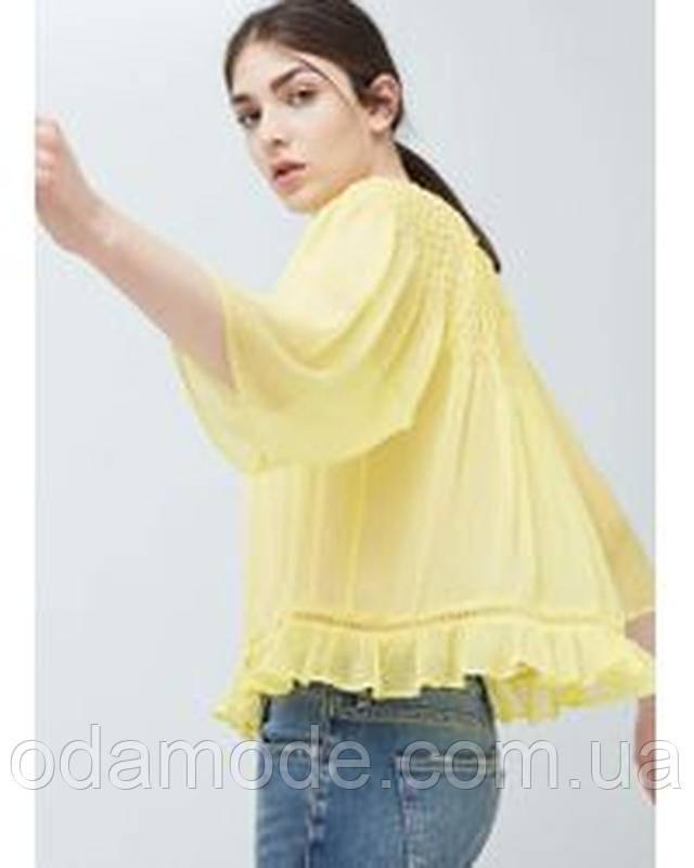 Женская блуза желтая Mango