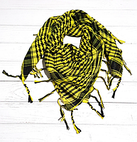 Арафатка, легкий платок-шарф, 100*100 см, желтый