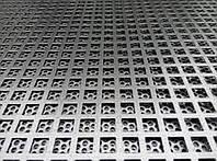 Лист перфорований алюмінієвий 1000х2000х1, д. яч.5, крок 8