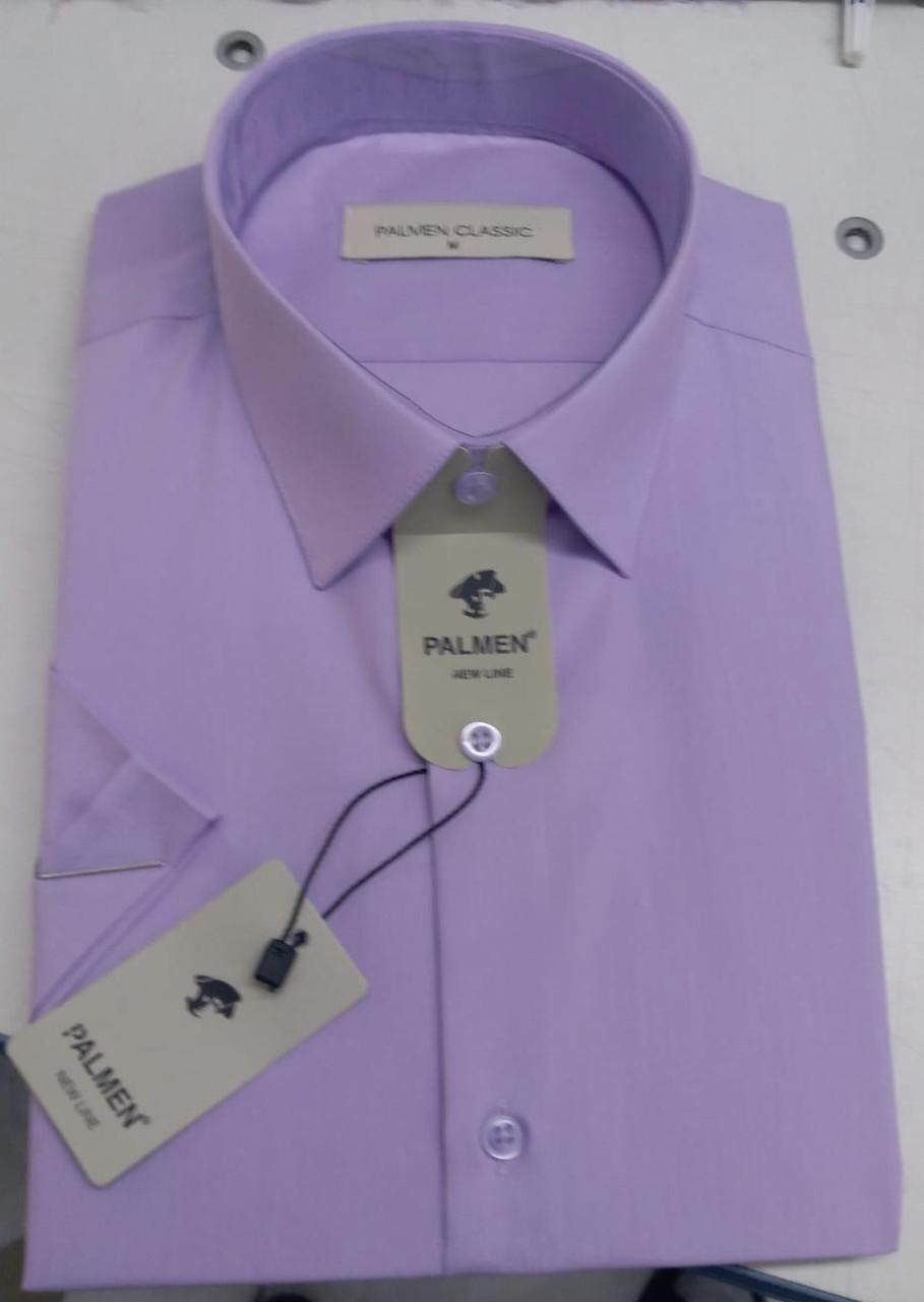 Однотонная рубашка с коротким  рукавом Palmen