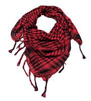 Арафатка, легкий платок-шарф, 100*100 см, красный