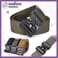 Тактический нейлоновый ремень Tactical Belt 125 см / Армейский ремень