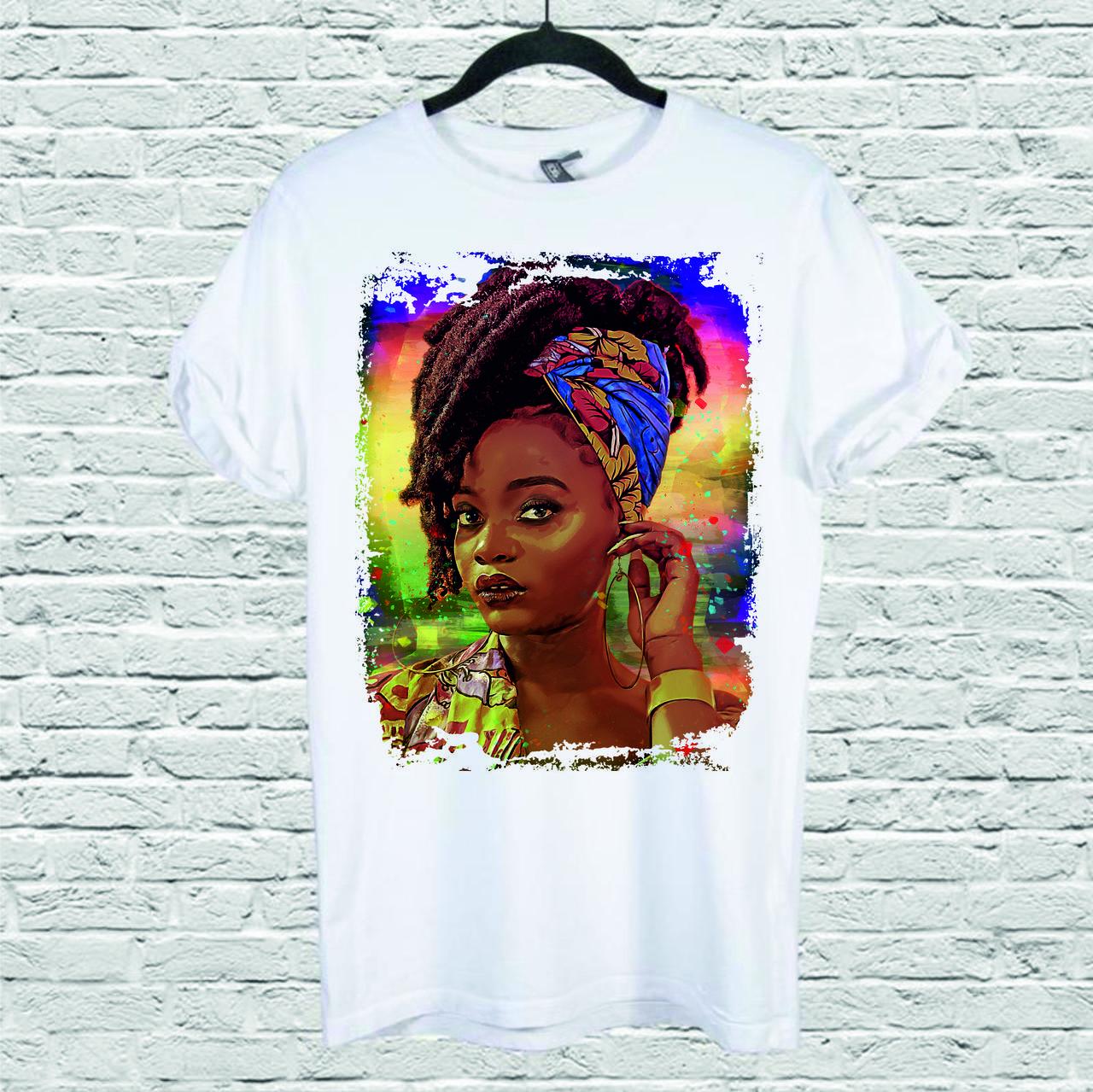 Футболка YOUstyle African girl 0111 M White
