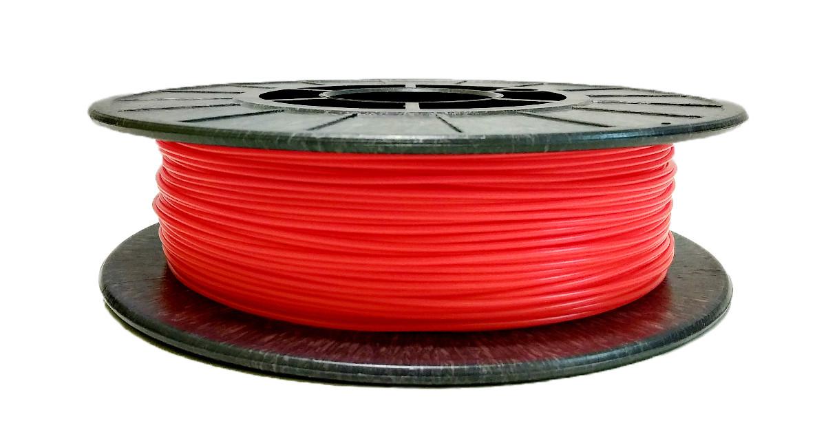 Нить PLA (ПЛА) пластик для 3D печати, Коралловый флюр, светоотражающий (1.75 мм/0.5 кг)