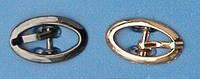 Пряжка для женской  обуви 8 мм цвет темный никель , золото