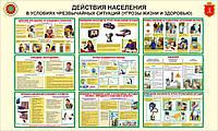 Стенды по Гражданской Обороне (русский язык,логотип Одесса)