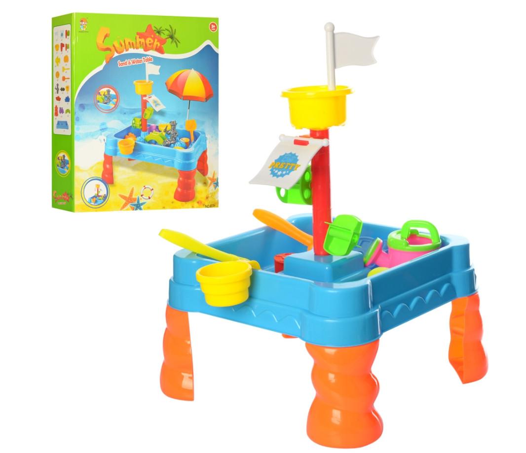Игровой набор столик-песочница 6155 с аксессуарами
