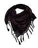 Арафатка, легкий платок-шарф, 100*100 см,темно-коричневый