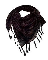 Арафатка, легкий платок-шарф, 100*100 см,темно-коричневый, фото 1