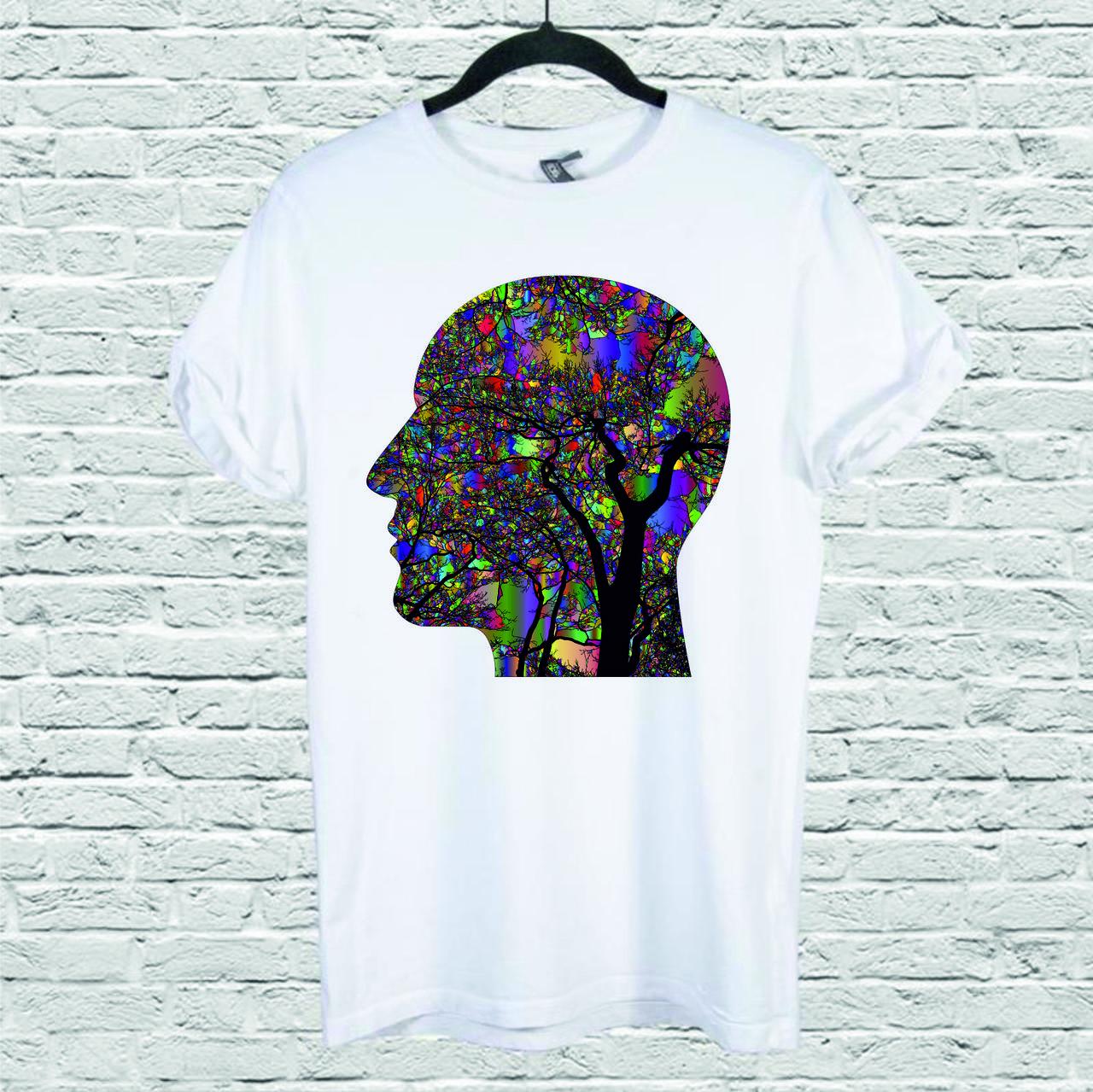 Футболка YOUstyle Brain2 0113 L White