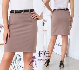 Короткая классическая юбка 4 цвета