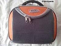 Велика Сумка-саквояж RGL мод 773 + Плечевий ремінь сіро-оранж