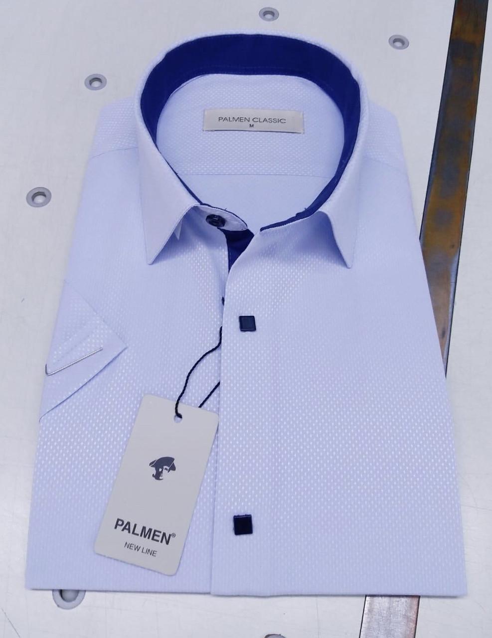 Сорочка з коротким рукавом Palmen жаккард на кнопці