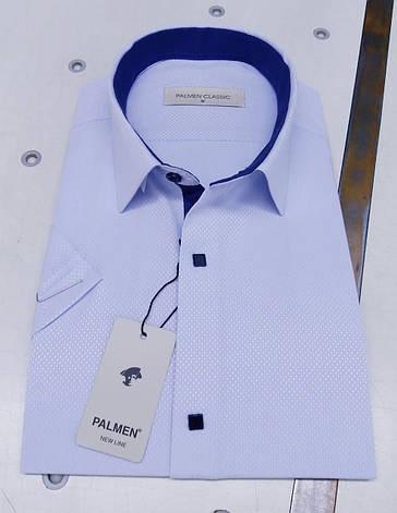 Сорочка з коротким рукавом Palmen жаккард на кнопці, фото 2