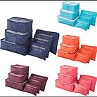 Набор из 6 органайзеров для белья и вещей удобный в дорогу для чемодана Laundry pouch ОПТ, фото 4