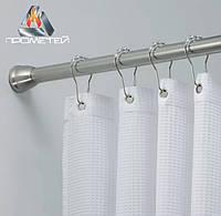 Прямые карнизы по индивидуальному заказу в душ, ванную, в душевую кабинку,  Ø 20мм, 25мм, 30мм, 32мм, фото 1