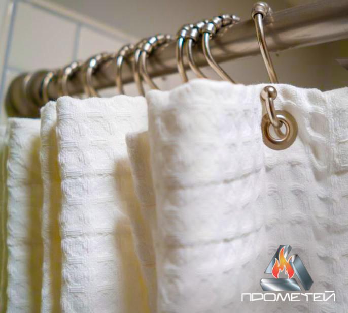 Пряма одинарна штанга з нержавіючої сталі для душової шторки, Ø 20мм, 25мм, 30мм, 32мм