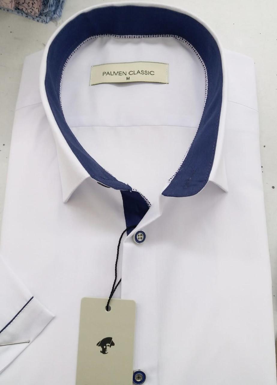 Однотоная сорочка з коротким рукавом Palmen на кнопці