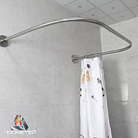 П-подібний карниз з нержавіючої сталі для ванної або піддону, Ø 20мм, 25мм, 30мм, 32мм., фото 1