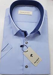 Однотоная рубашка с коротким  рукавом Palmen на кнопке айвори