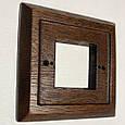 Рамка 4-місцева дубова для монтажу розеток і вимикачів прихованого монтажу., фото 2