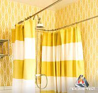 П-подібний тримач з нержавіючого металу недорого для шторки в душ або ванну, Ø 20мм, 25мм, 30мм, 32мм, фото 1