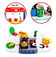 Детская игровая двухсторонняя кухня с набором посуды Happy Little Chef 768A, 83 см, свет-звук, течет вода, фото 3