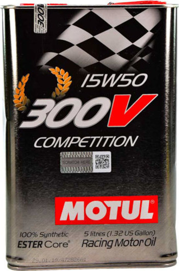 Моторное масло MOTUL 300V Competition SAE 15W50 (5L)