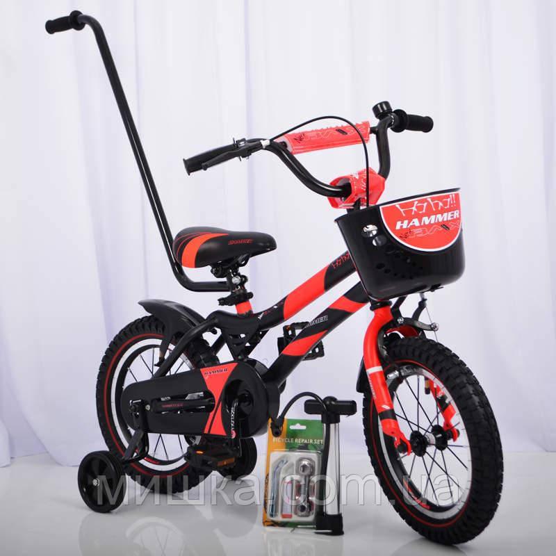 """Велосипед детский """"HAMMER-14"""" S500 Черно-красный"""