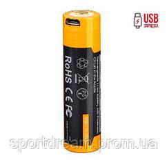 Акумулятор 18650 Fenix 3500 mAh ARB-L18-3500U micro usb зарядка