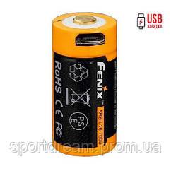 Акумулятор 16340 Fenix 700 mAh Li-ion micro usb зарядка