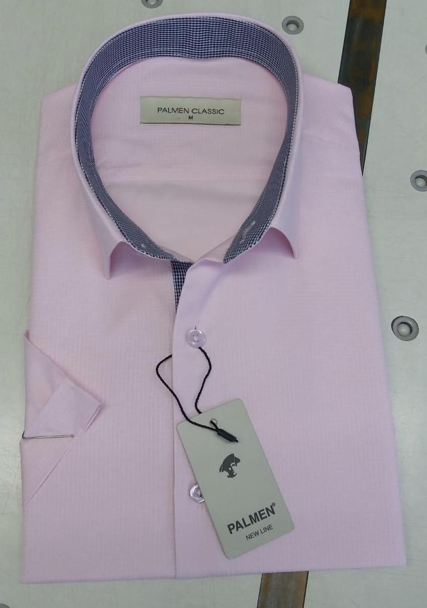 Рубашка с коротким  рукавом Palmen жаккард (пуговица)